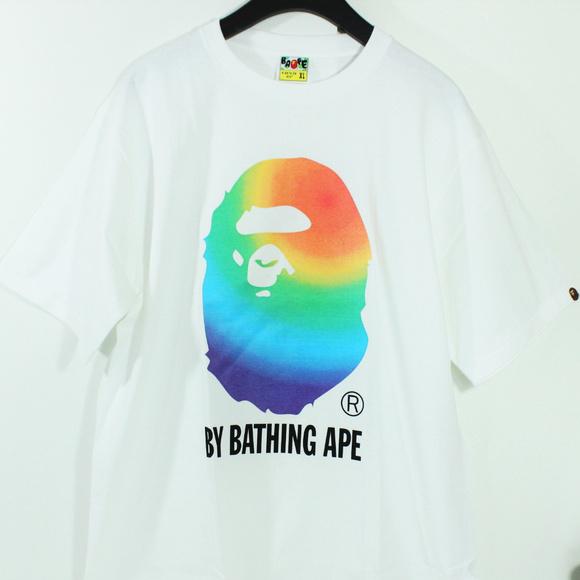 e09b934a Bape Shirts   A Bathing Ape Ape Head Multi Color Shirt   Poshmark